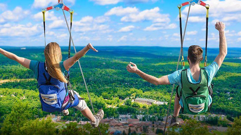 Camelback Mountain Adventures Zip Line Pa Places Pocono Destinations Vacation Rentals Resorts Entertainment Activities